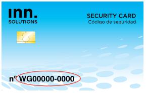 codigo de la tarjeta inn key control